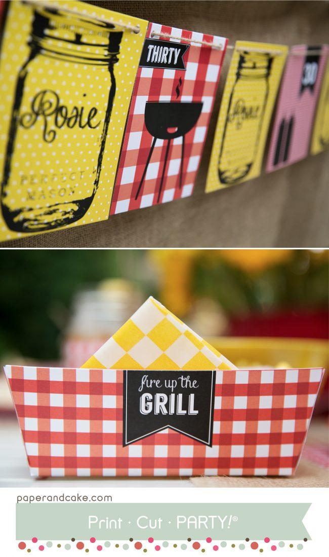 BBQ printable party kit