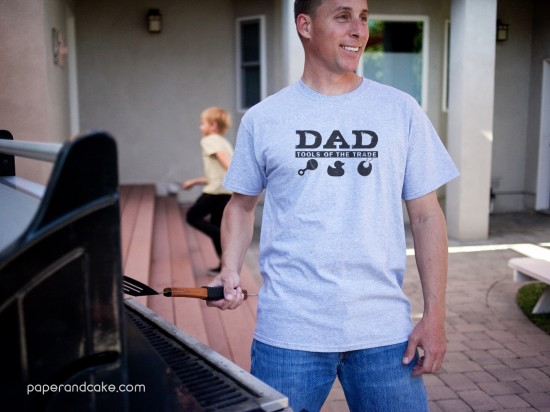 father's day tshirt craft