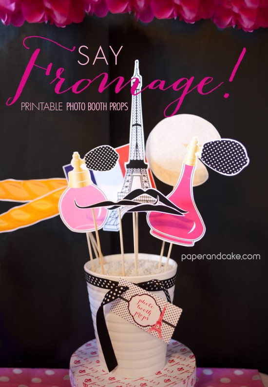 Paris Printable Photo Booth Props New Paper And Cake