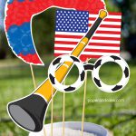 soccer photo booth props - from paper & cake