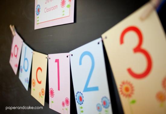 Printable Spring Classroom Decorations ~ Printable classroom decorations spring flowers paper