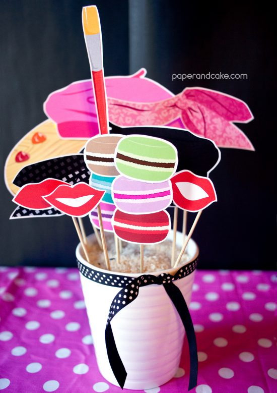 Bien-aimé Paris Printable Photo Booth Props: New! - Paper and Cake Paper and  PM11