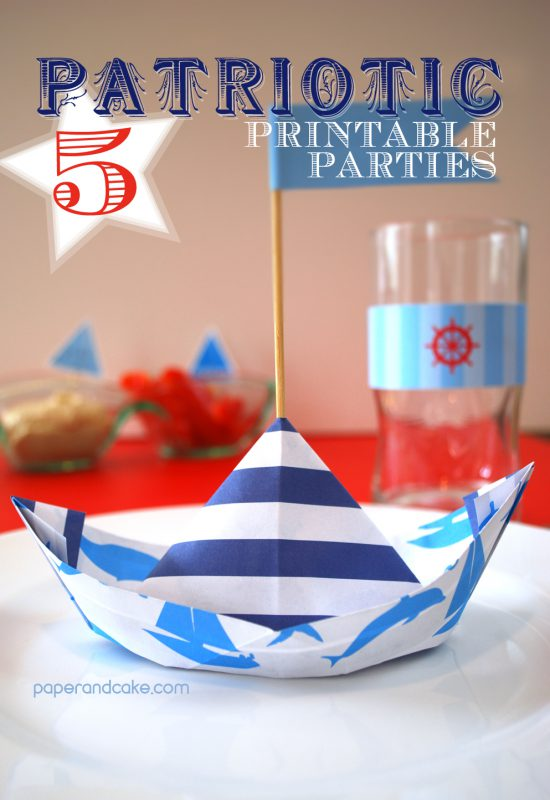 fourth of july decorations paper & cake