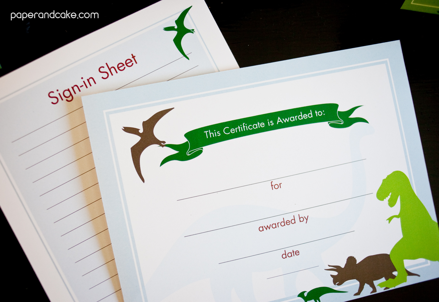 Dinosaur Printable Classroom Decorations - Paper and Cake ...