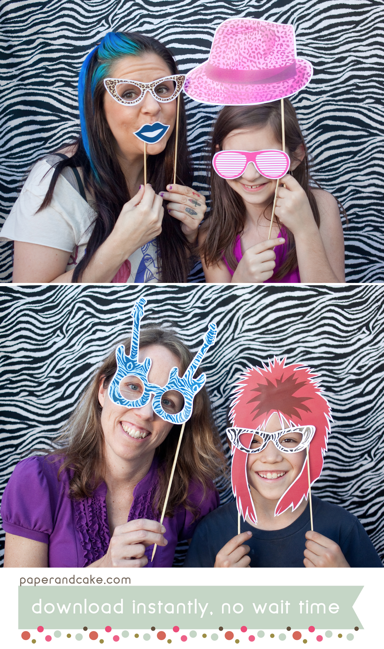 Rock Star Printable Photo Booth Props Paper And Cake Paper And Cake