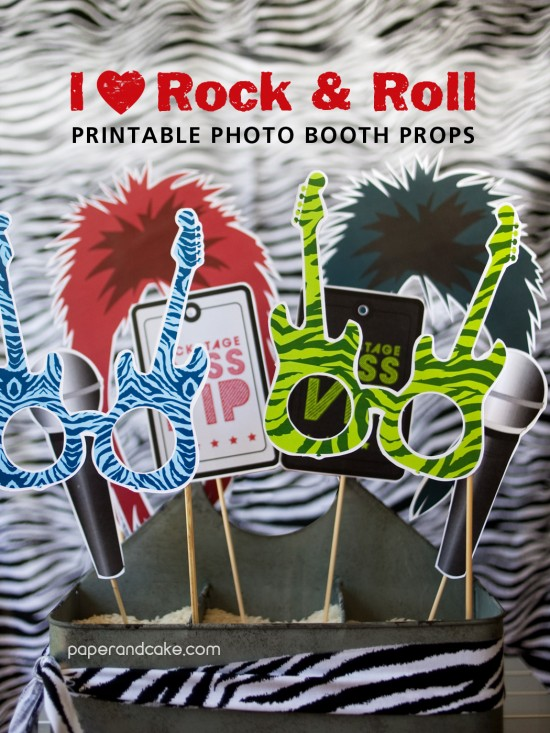 Rock Star Printable Photo Props New Paper And Cake
