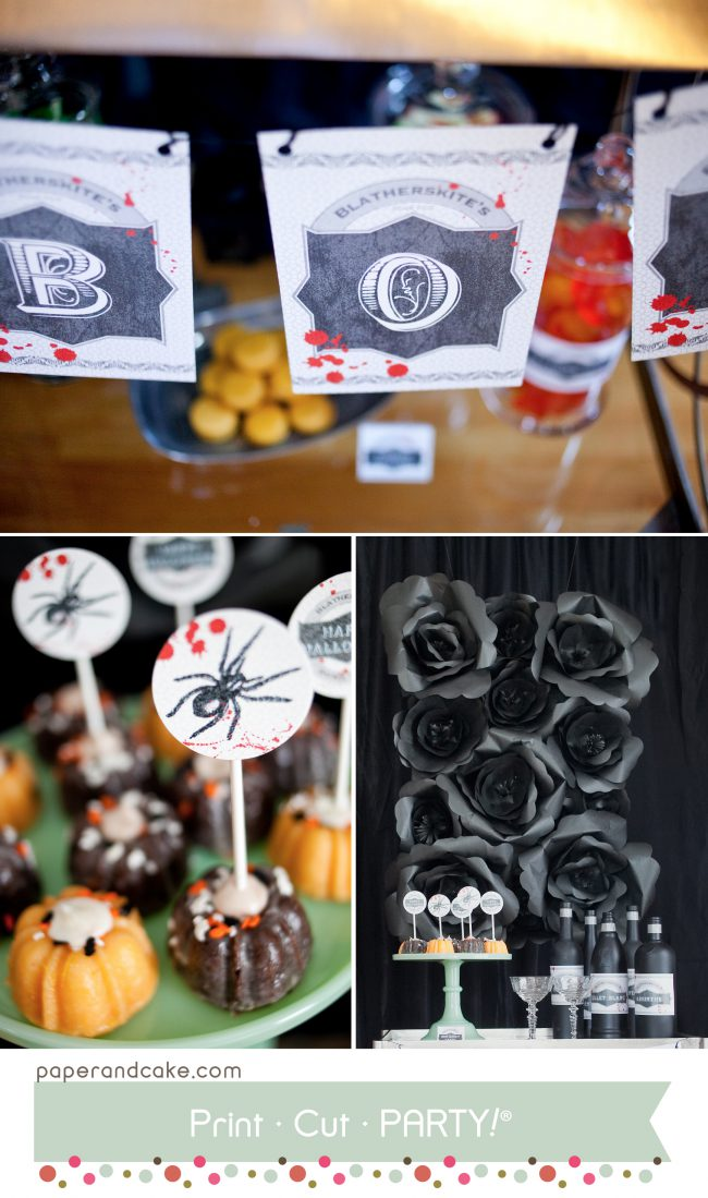Bloody Halloween printable party decorations