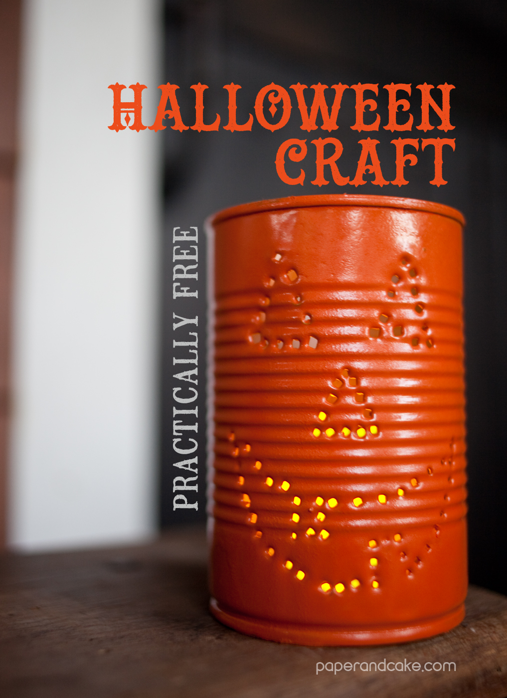 Halloween Craft Decorations Fun With Cans Paper And