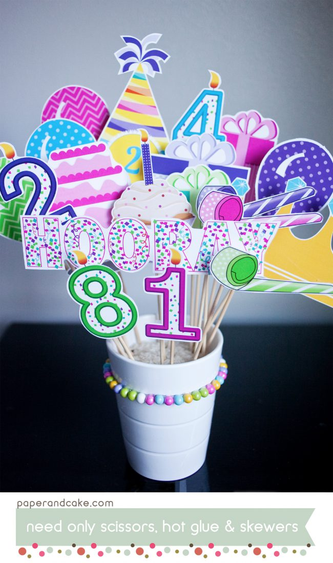 birthday printable photo booth props