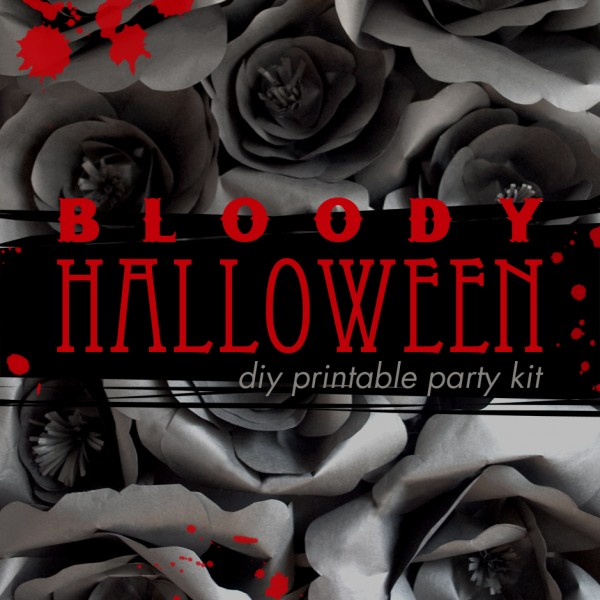Bloody Halloween Decorations New Printable Kit Paper