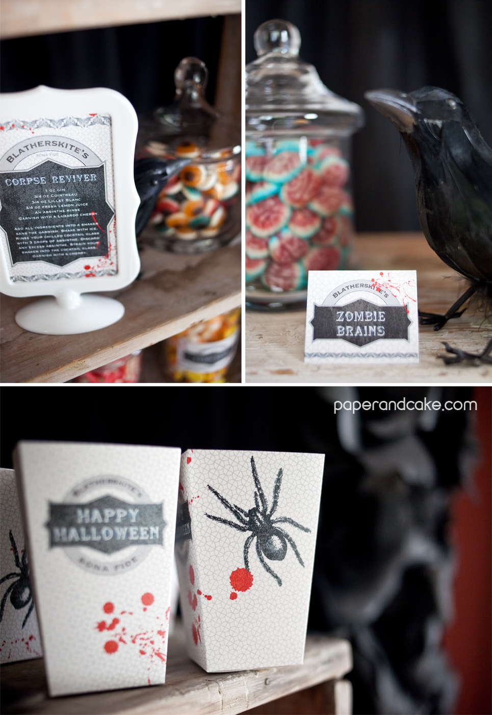 bloody halloween printable party