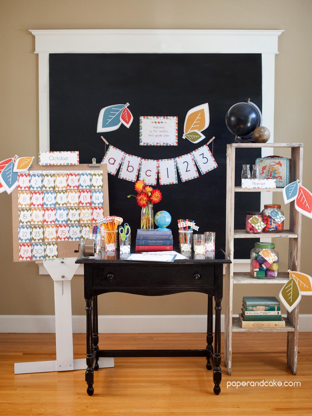 Classroom Decoration Ideas Printables : Mod fall printable classroom decorations paper and cake