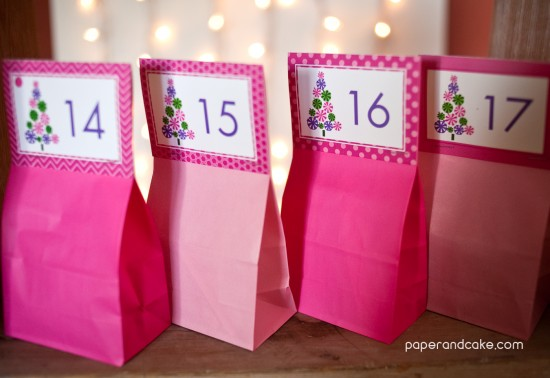 Advent Calendar FREE Download by paper & cake