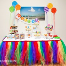 Balloon Rainbow Printable Birthday Party