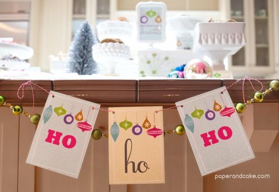 Retro Ornaments Christmas Party