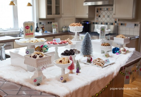 Retro Ornaments Christmas Cookie Exchange Party