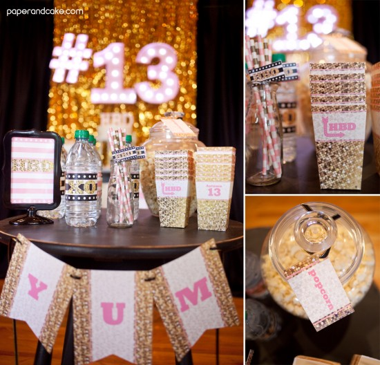 Pink and Gold Glitter Birthday