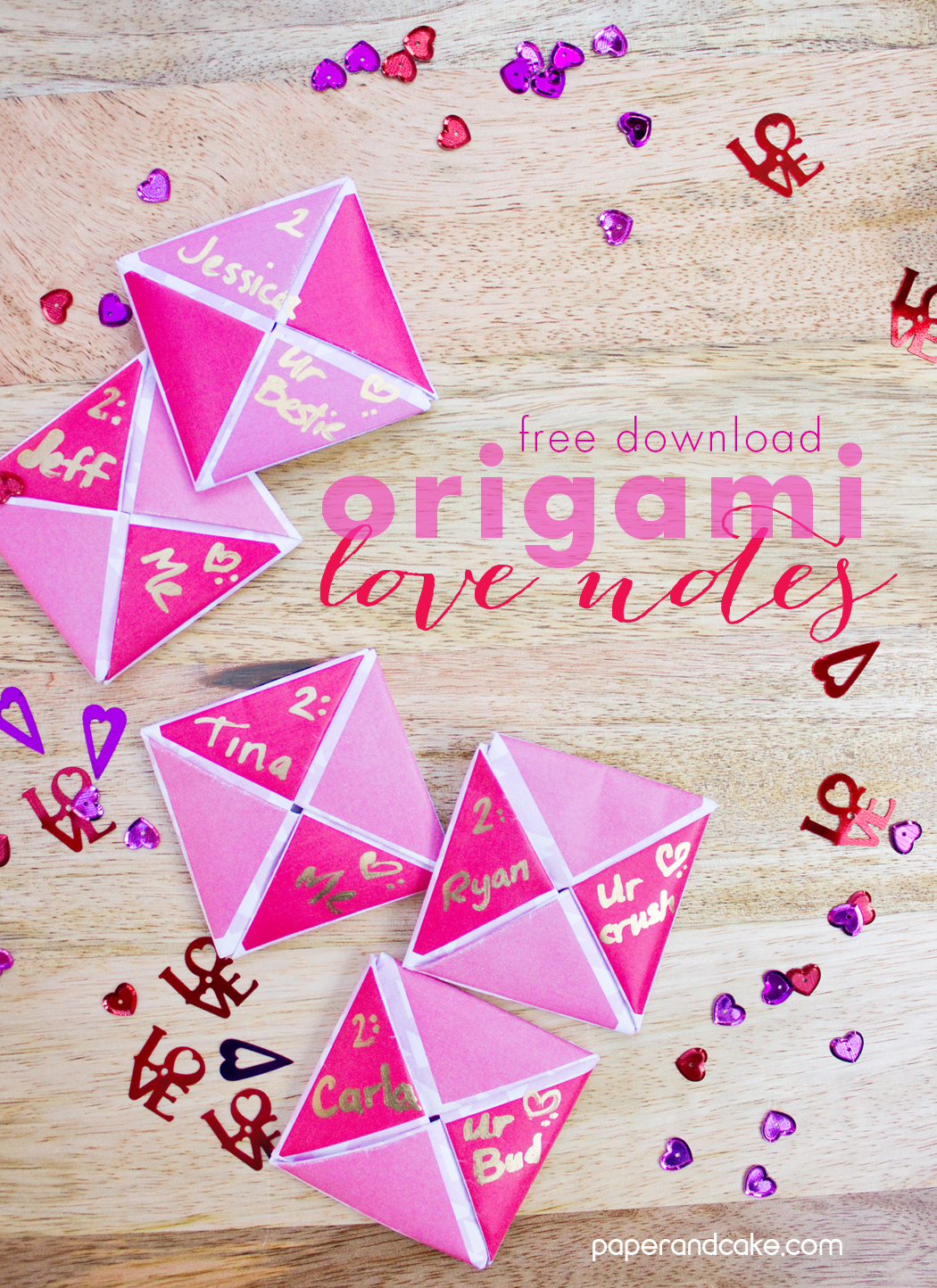 printable origami valentine friday freebie paper and