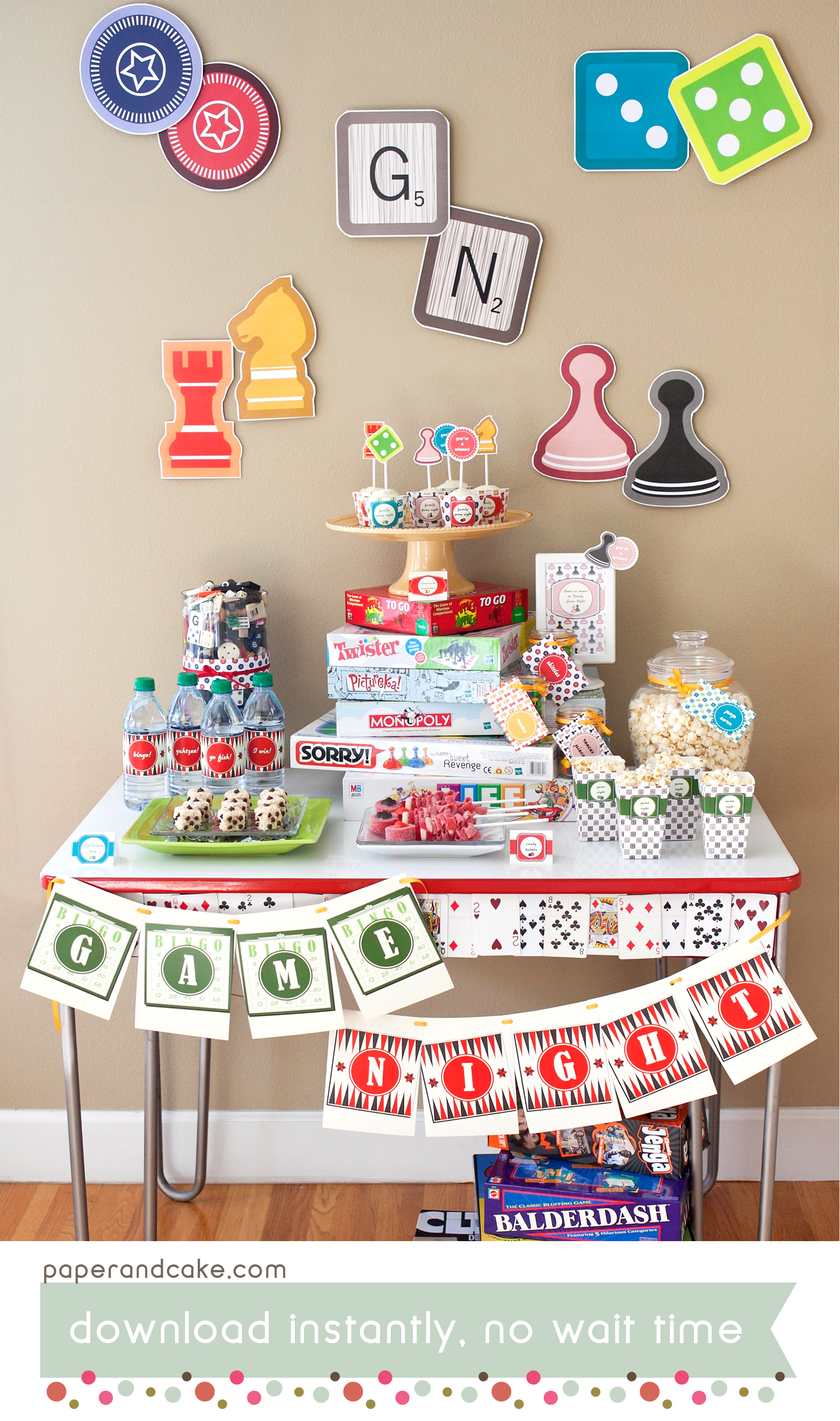 photograph relating to Printable Party named Activity Evening Printable Celebration