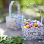 paper crafted easter basket