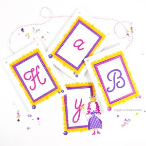 Princess Happy Birthday Pennant Banner