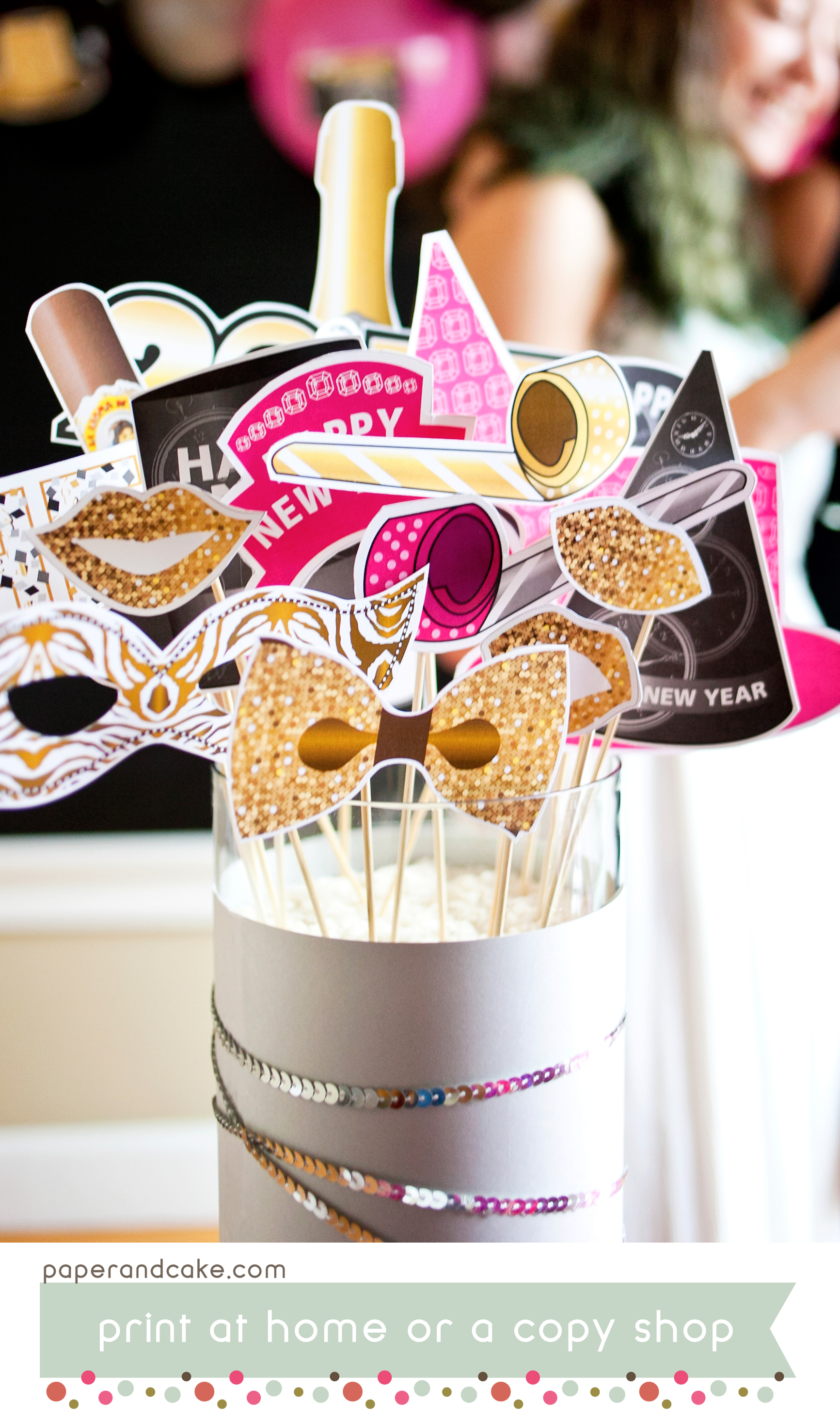 happy new year printable photo booth props