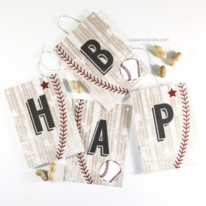 baseball happy birthday pennant banner