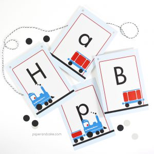Train Happy Birthday Pennant Banner