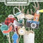camping photo booth props