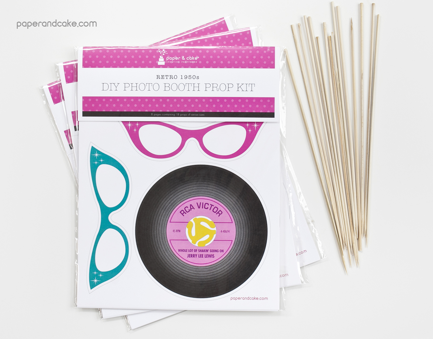 Retro 1950s Photo Booth Props DIY Kit