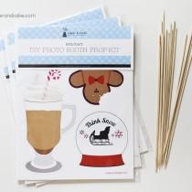 Holiday Photo Booth Props DIY Kit