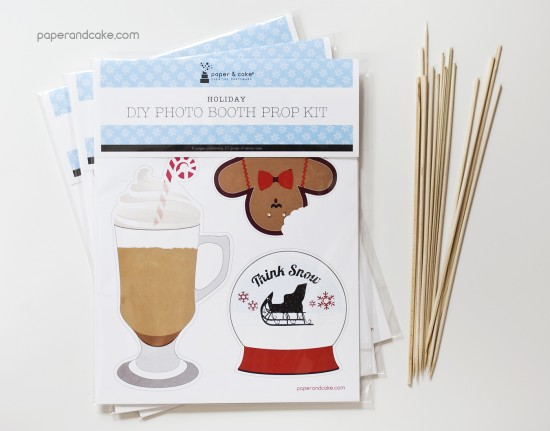 Holiday DIY Photo booth prop kit