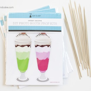 Sweet Shoppe Photo Booth Props DIY Kit
