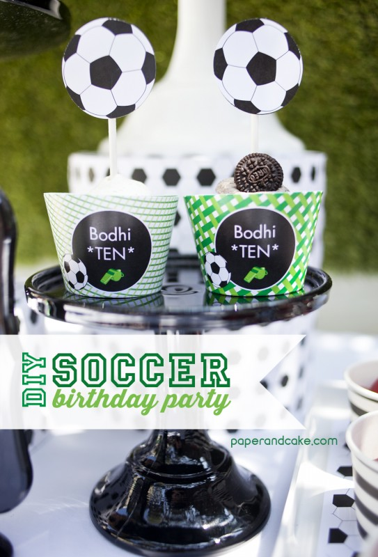 Soccer Birthday Party Goooaaal Paper And Cake Paper And