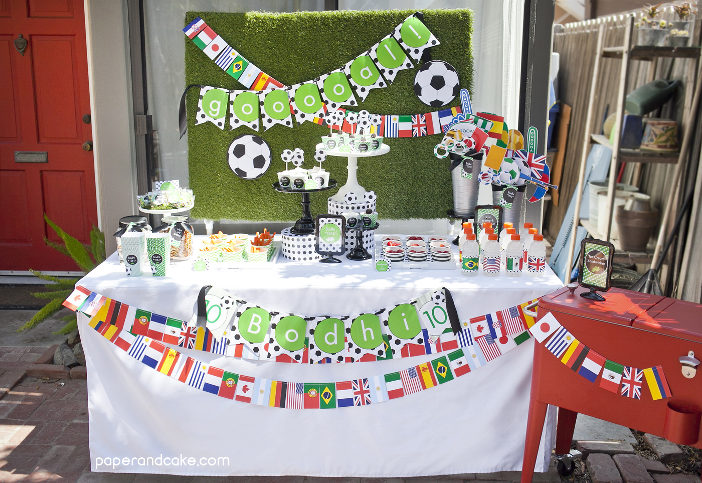 Soccer Printable Birthday Party - Paper and Cake Paper and ...