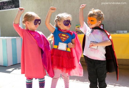 comic book superhero birthday party