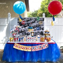 Comic Book Superhero Printable Birthday Party