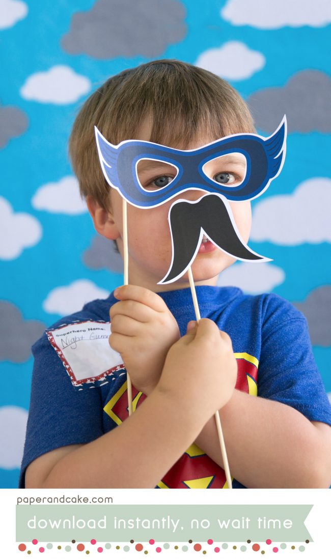 comic book superhero photo booth props