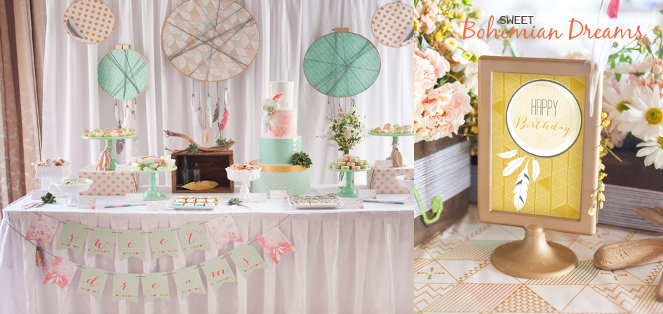 Bohemian Printable Part Decorations by Paper and Cake