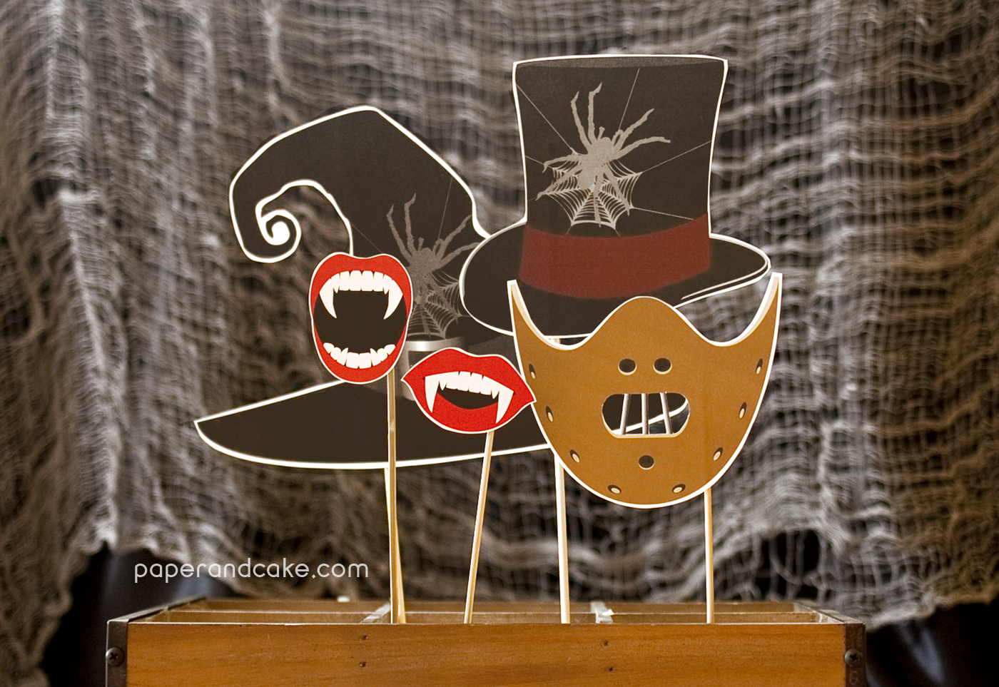 Haunted Horror Photo Booth Props Diy Kit Paper And Cake