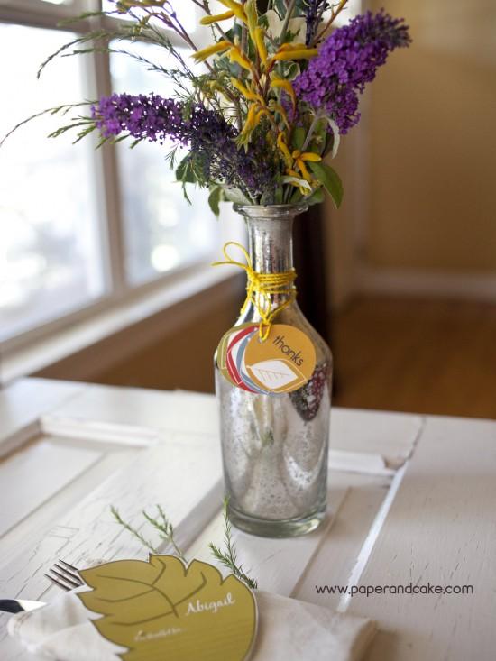 Thanksgiving flowers in Vase
