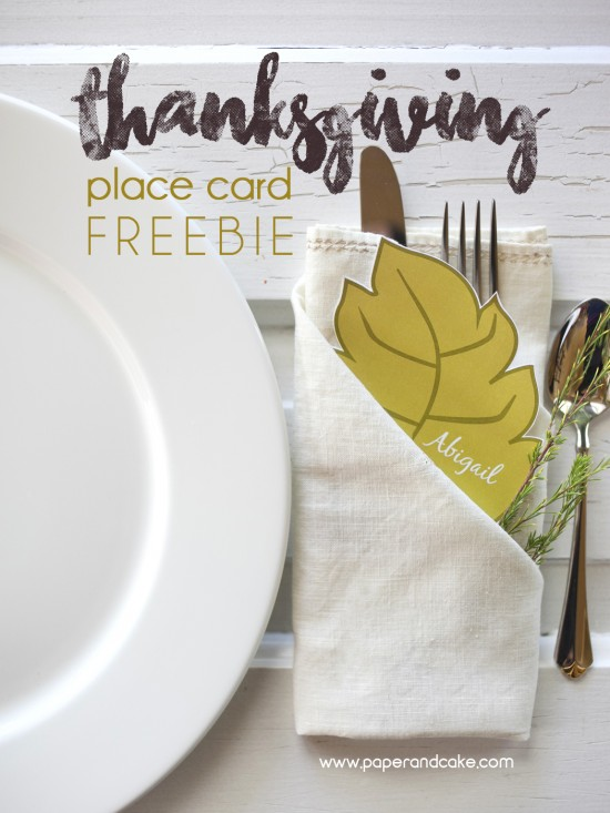 Fall Leaf Free Printable Place Card