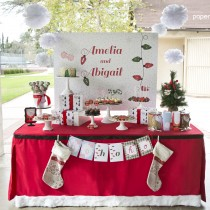 Peppermint and Plaid Printable Party