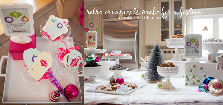 Retro Ornament Printable Decorations by Paper and Cake