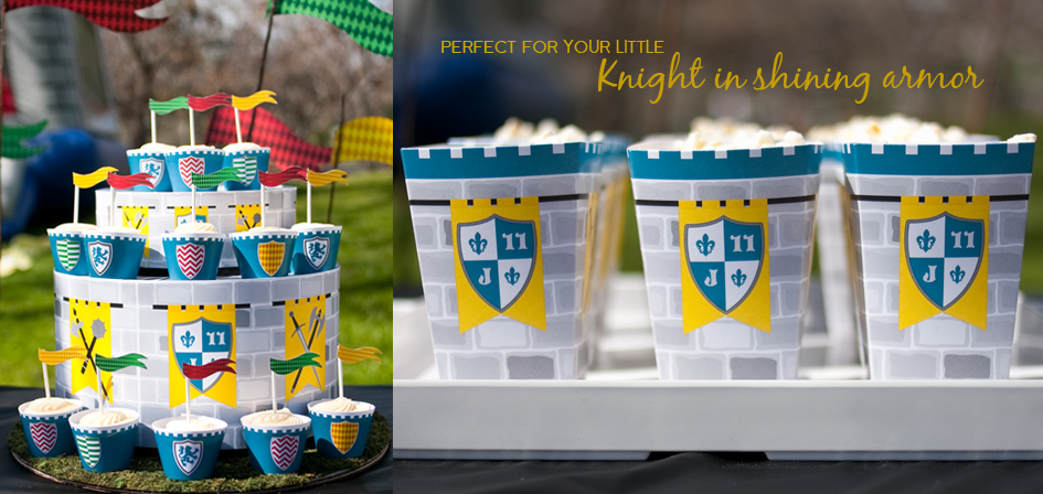 Medieval Knights Printable Birthday party by Paper and Cake