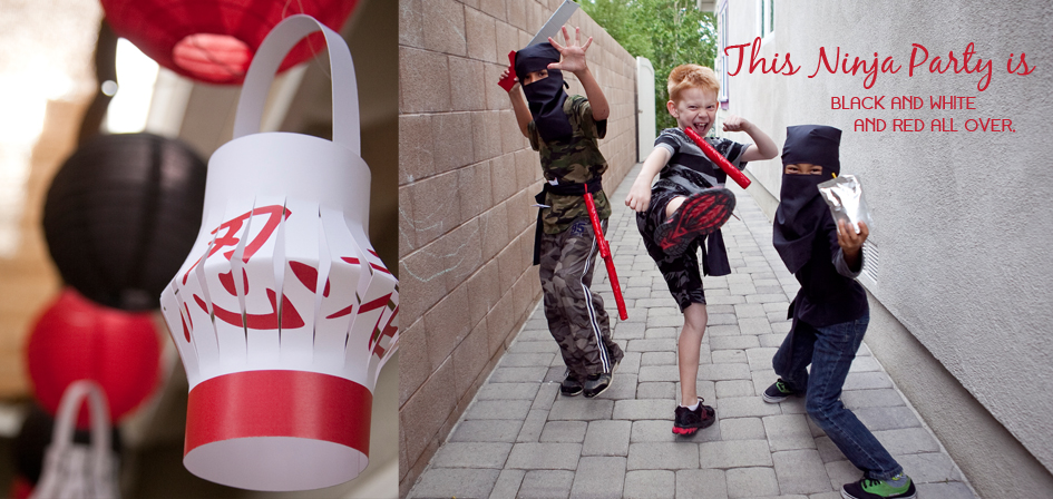 Ninja Printable Party Decorations by Paper and Cake