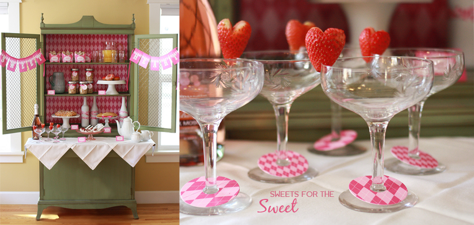 Sweet Heart Party Printable Decorations by Paper and Cake