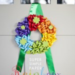 Paper Rainbow Wreath