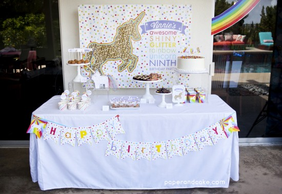 Rainbow Unicorn Birthday Party decorations