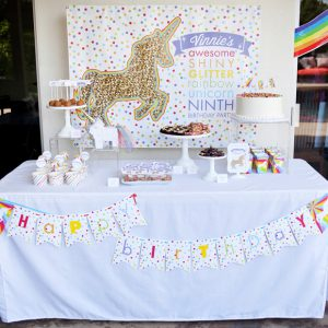 rainbows and unicorns printable birthday party